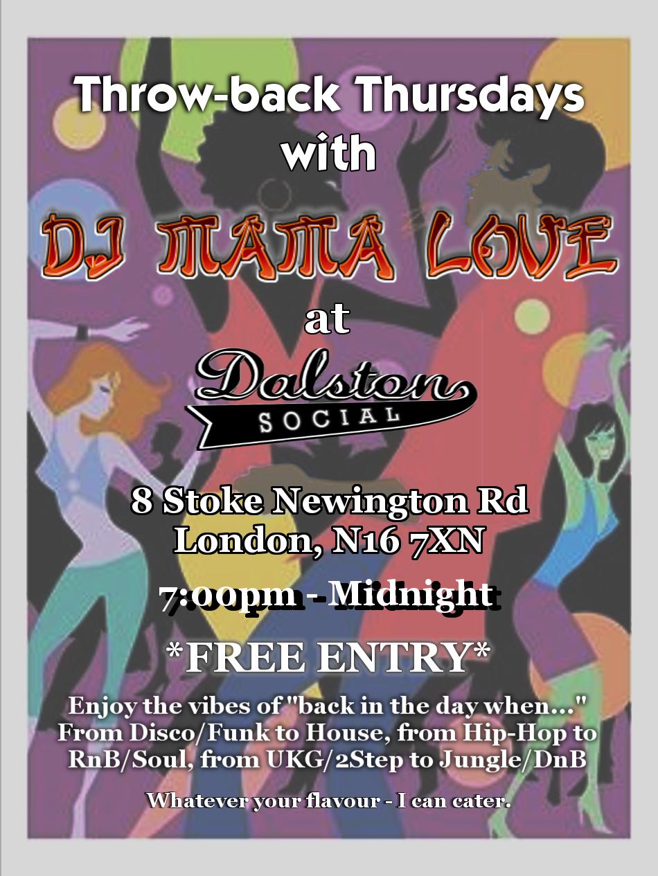 Throw-back Thursdays at Dalston Social